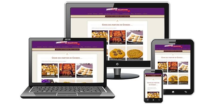 Réalisation de site Internet : Les Cookies de Monttessuy