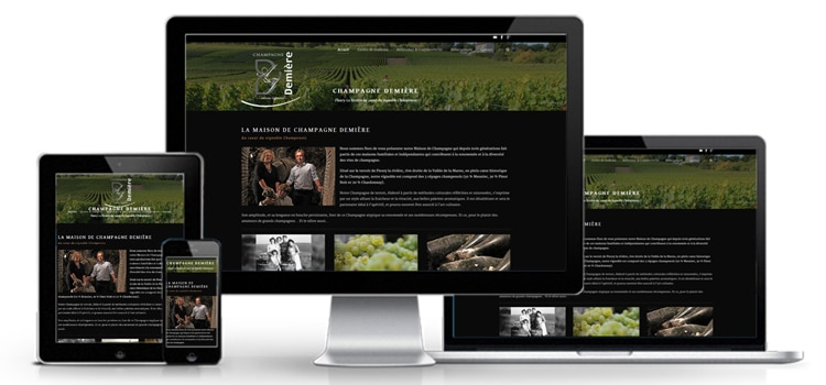 Création d'un site Internet pour le Champagne Demière
