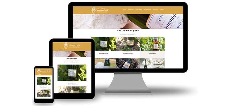 Créer un site web WordPress pour les champagnes Crété