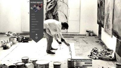 Refonte du site web d'un artiste peintre plasticien