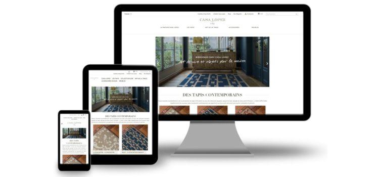 Refonte du site web de vente en ligne PrestaShop pour Casa Lopez